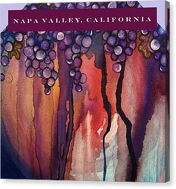 Concord Grapes Canvas Print - Napa Valley by Mary Ellen Frazee