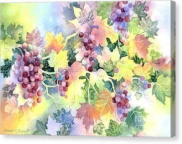 Napa Valley Morning 2 Canvas Print by Deborah Ronglien