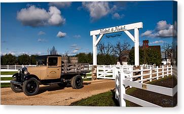 Napa Valley And Vineyards Canvas Print - Napa Valley Winery Entrance by Mountain Dreams