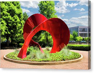 Canvas Print featuring the painting Naperville Landforms Sculpture by Christopher Arndt