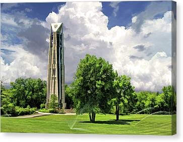 Canvas Print featuring the painting Naperville Millennium Carillon by Christopher Arndt