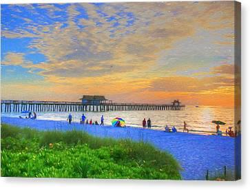 Naples Beach Canvas Print by Sharon Batdorf