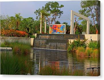 Naples Botanical Garden Canvas Print by Sean Allen