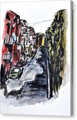 Naples City Street Canvas Print