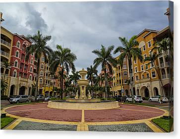 Naples Fountain Canvas Print