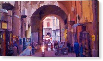 Naples Italy Impression Canvas Print