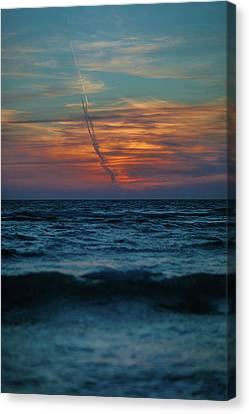 Southwest Florida Sunset Canvas Print - Naples Launch by Dan Vidal