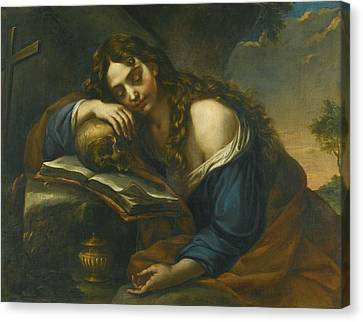 Naples Mary Magdalene Sleeping Canvas Print by MotionAge Designs