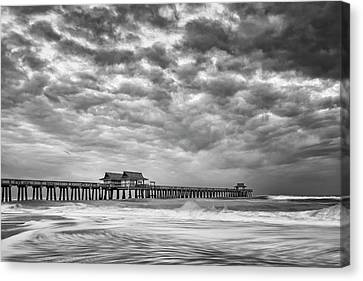 Canvas Print featuring the photograph Naples Monochrome by Mike Lang