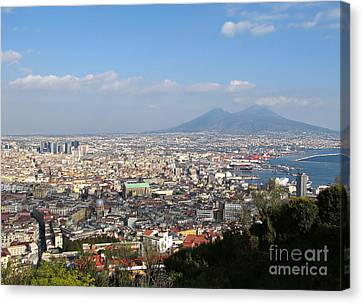 Naples Panoramic View Canvas Print by Kiril Stanchev