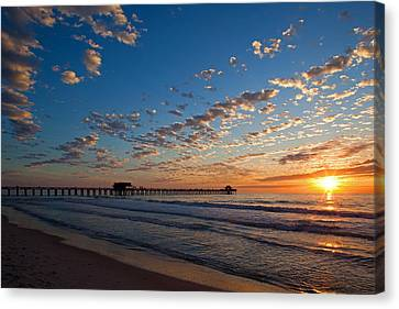 Naples Pier Days End. Canvas Print