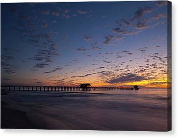 Naples Pier Magic Hour Canvas Print