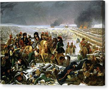 Canvas Print featuring the painting Napoleon At Eylau  by Antoine Jean Gros