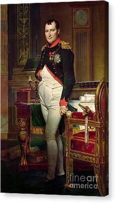 Tuileries Canvas Print - Napoleon Bonaparte In His Study At The Tuileries, 1812 by Jacques Louis David