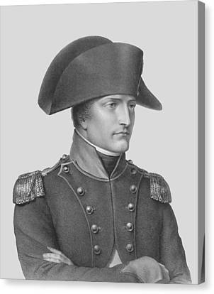 Napoleon Bonaparte In Uniform  Canvas Print by War Is Hell Store