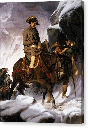 Napoleon Crossing The Alps Canvas Print by Hippolyte Delaroche