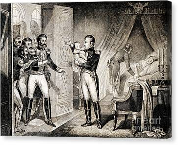 Napoleon I Presenting Newborn Son, 1811 Canvas Print by Wellcome Images
