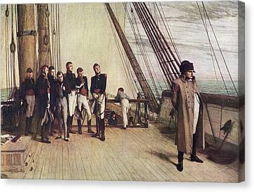 Napoleon On The Bellerophon. Painting Canvas Print by Vintage Design Pics