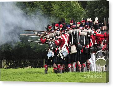 Napoleonic Battle Canvas Print by Andy Smy