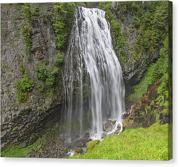 Narada Falls Mt Rainier Canvas Print by Sam Amato