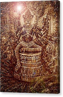 Narasimha Divine Protector Canvas Print by Michael African Visions