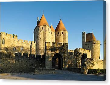 Narbonne Gate Carcasonne Canvas Print by Stephen Taylor