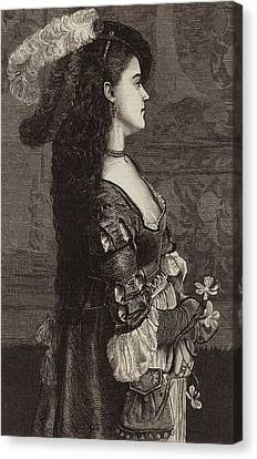 Choker Canvas Print - Narcissa by Gustave Jacquet