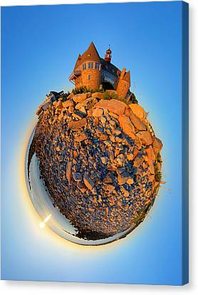 Narraganset Towers 2- Planet Canvas Print by Christopher Blake