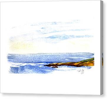 Narragansett Rocks Canvas Print