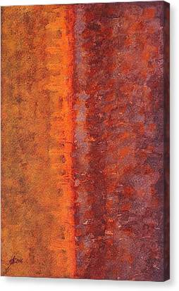 Narrow Divide Original Painting Canvas Print