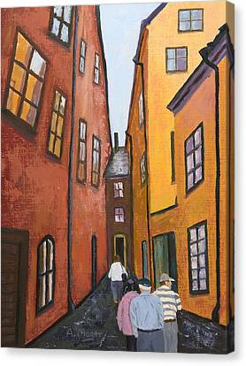 Narrow Passage Canvas Print by Alan Mager