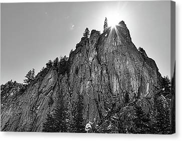 Canvas Print featuring the photograph Narrows Pinnacle Boulder Canyon by James BO Insogna