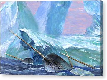 Narwhals Canvas Print by Richard Hescox