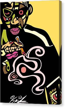Nas Up In Smoke Full Color Canvas Print by Kamoni Khem