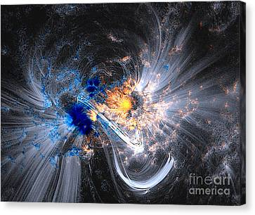 Nasa Coronal Loops Over A Sunspot Group Canvas Print