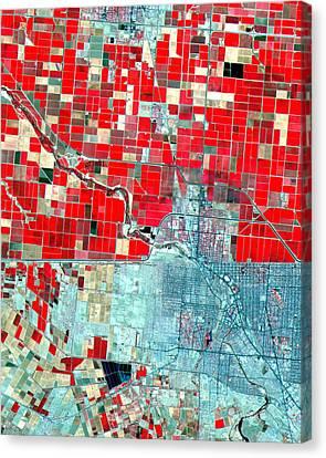 Nasa Image-us-mexico Border-2 Canvas Print