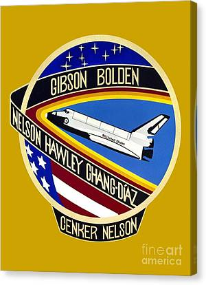 Nasa Sts-61-c Mission Patch Canvas Print by Art Gallery