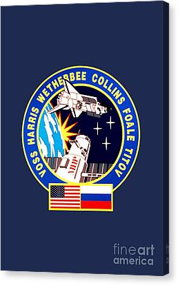 Nasa Sts-63 Mission Insignia Canvas Print by Art Gallery