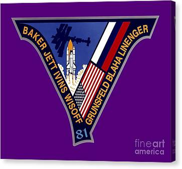 Nasa Sts-81 Mission Patch Canvas Print by Art Gallery