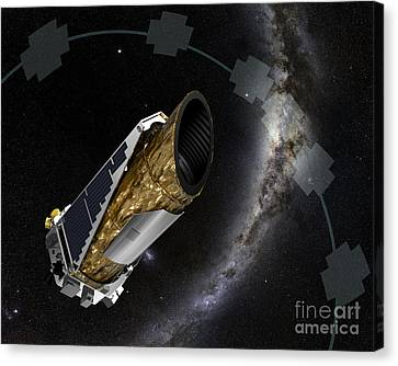Nasas Planet-hunting Kepler Spacecraft Canvas Print by Science Source