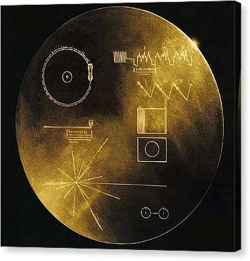 Nasas Voyager 1 And 2 Spacecraft Canvas Print by Everett