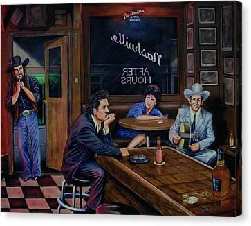 Nashville After Hours Canvas Print by Antonio F Branco