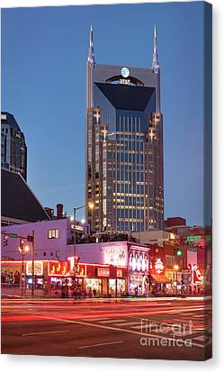 Canvas Print featuring the photograph Nashville - Batman Building by Brian Jannsen