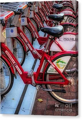Canvas Print - Nashville Bikes by Paulette Thomas