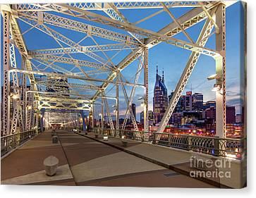 Nashville Bridge Canvas Print by Brian Jannsen