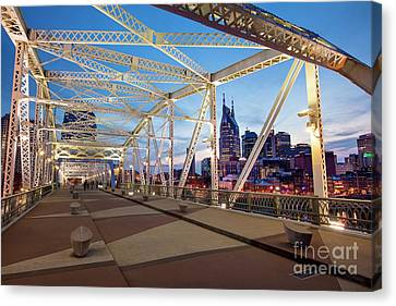 Canvas Print featuring the photograph Nashville Bridge II by Brian Jannsen