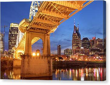 Canvas Print featuring the photograph Nashville Bridge IIi by Brian Jannsen