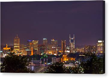 Nashville Tennessee Canvas Print - Nashville By Night 3 by Douglas Barnett