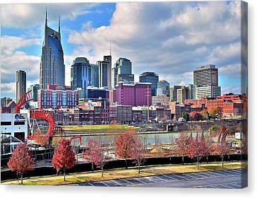 Nashville Clouds Canvas Print by Frozen in Time Fine Art Photography