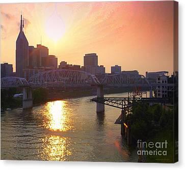 Nashville Dusk Canvas Print by Andrew Cravello